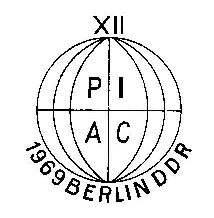 Logo of the XIIth Meeting, Berlin (GDR), 1969