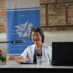 Ruby Yuan-Chu Lam during her lecture.